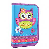 Пенал твердый Smart одинарный с двумя клапанами Owl Smart розовый (531681)