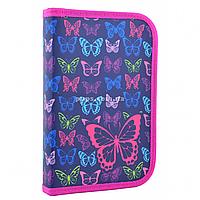 Пенал твердый Smart одинарный с клапаном Butterfly Smart фиолетовый (531669)