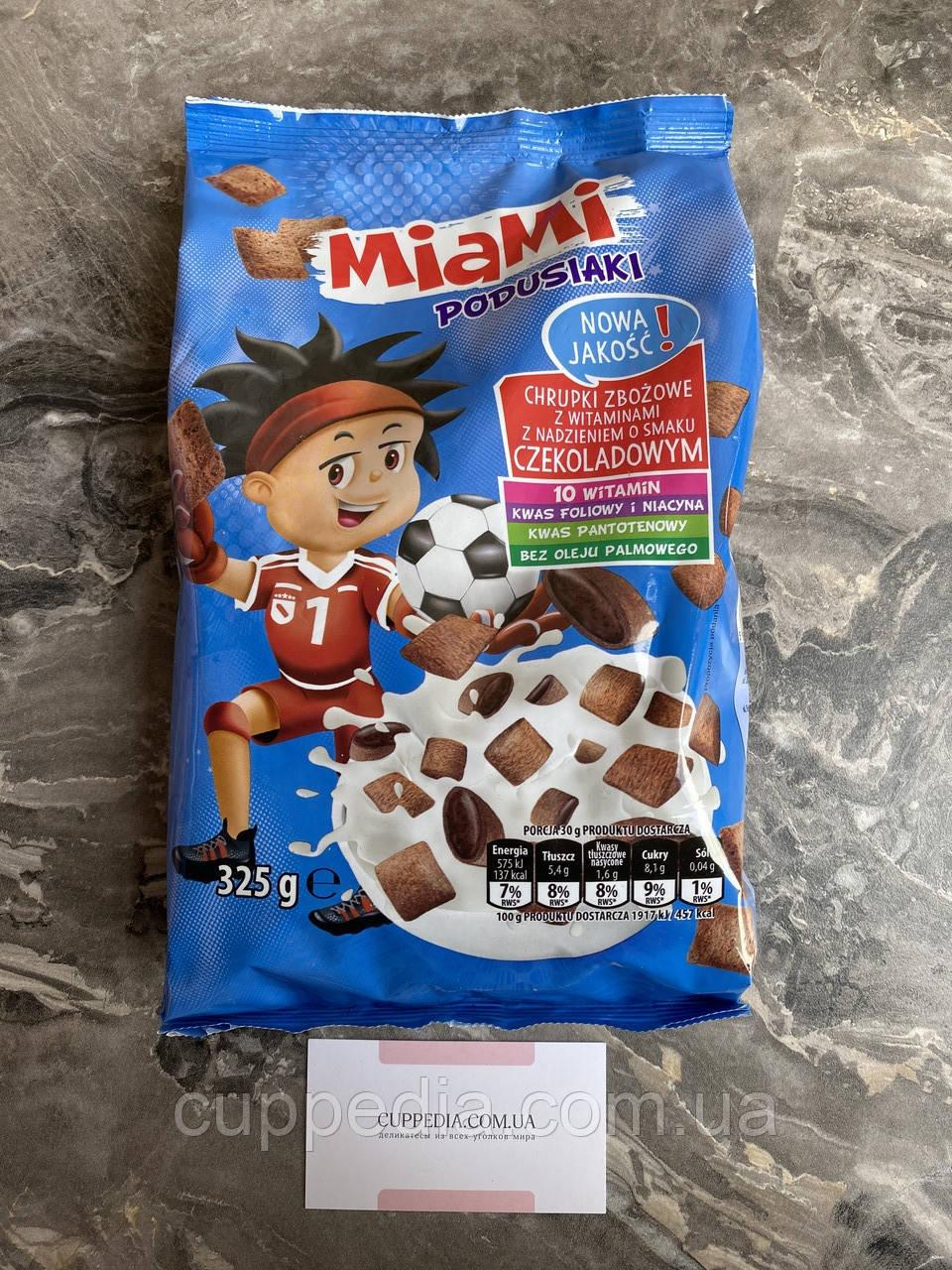 Детский завтрак Miami шоколадные подушечки с витаминами 325 грм