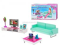 Детская игрушечная мебель для кукол Барби Гостиная 2804. Обустройте кукольный домик