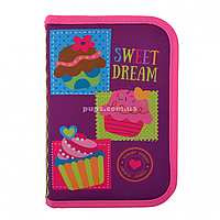 Пенал твердый Smart одинарный с клапаном Sweet dream Smart фиолетово-розовый (531691)