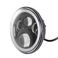 Фара мото LED 7 дюймів DL-J048D(Black ) Нива, УАЗ 469, ГАЗ 24, ВАЗ 2101, Хаммер, FJ Cruiser, w463, мото