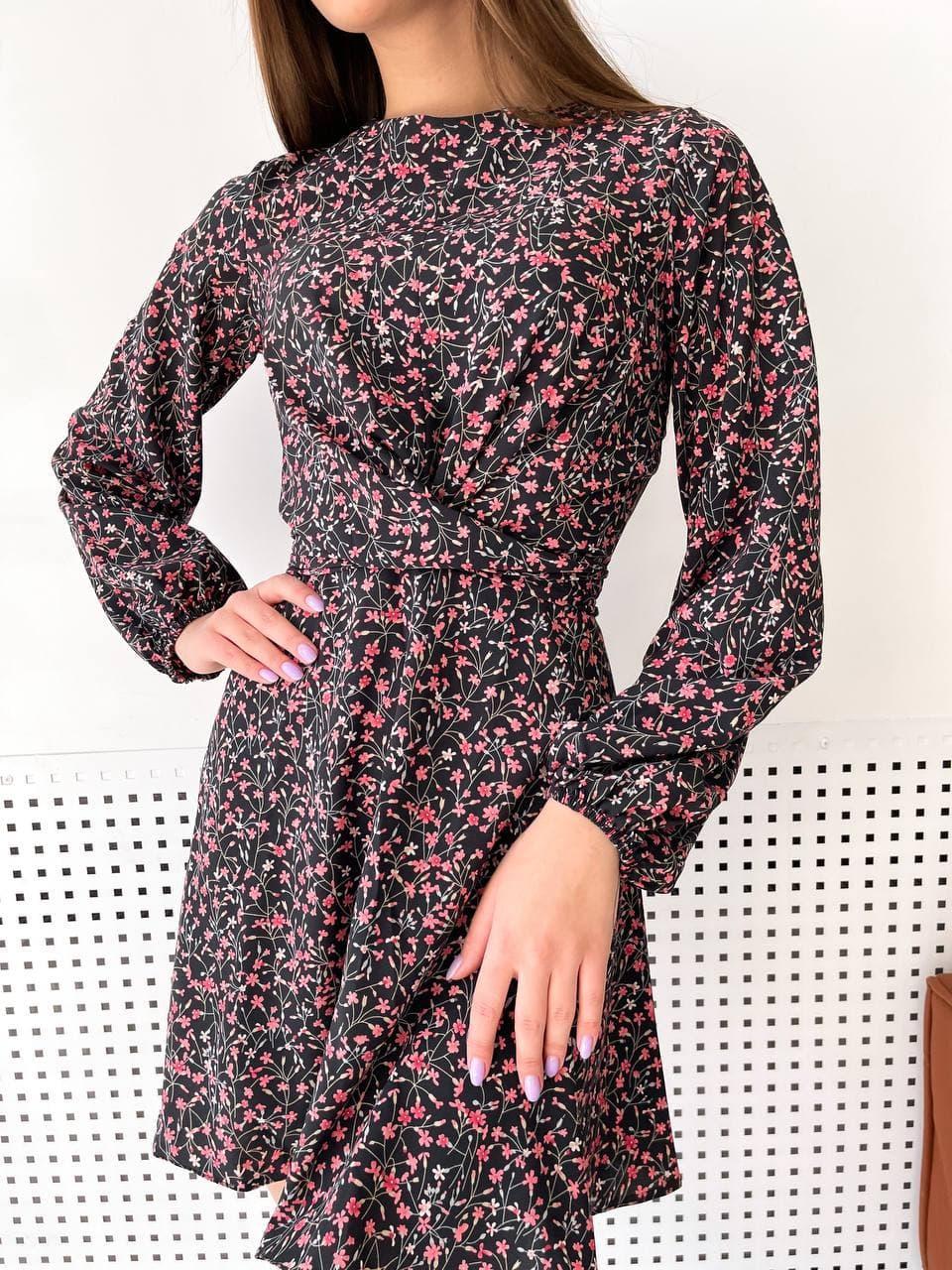 """Модное короткое молодежное повседневное платье с крестом на груди """"Jacqueline"""""""