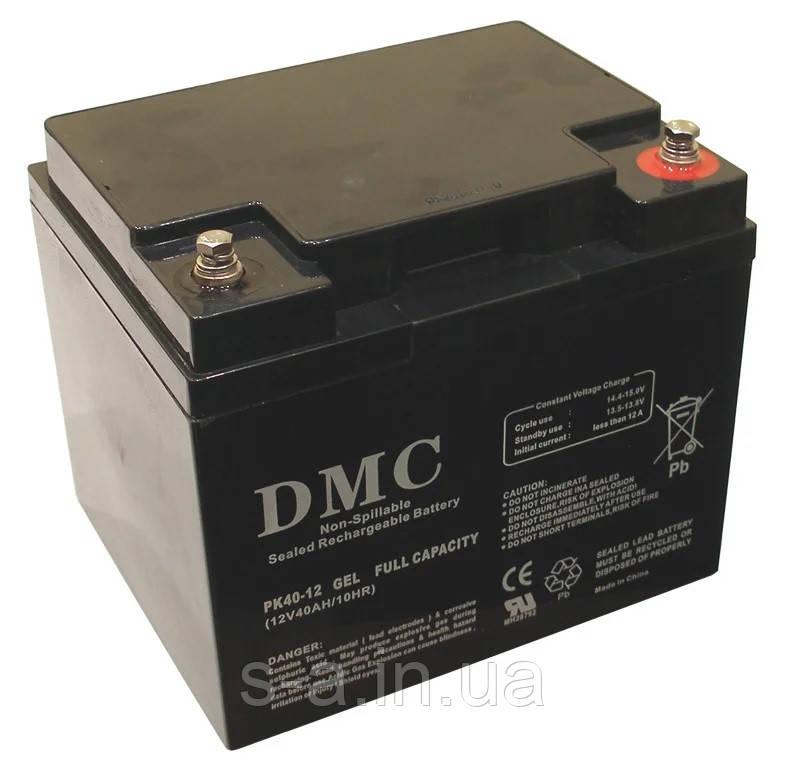 Гелевий акумулятор для систем резервного та автономного живлення, СЕС, PK40-12 GEL 40A*год 12В, GEL