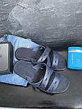 Мужские шлепанцы кожаные летние синие Bonis Original 37, фото 2