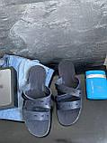 Мужские шлепанцы кожаные летние синие Bonis Original 37, фото 5