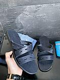 Мужские шлепанцы кожаные летние синие Bonis Original 37, фото 6