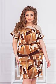 Летнее легкое платье женское Большого размера