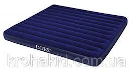 Велюровый надувной двухместный матрас Intex 64755 размером 203х183х25см