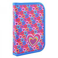 Пенал твердый одинарный с клапаном Hearts Smart разноцветный (531666)