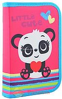 Пенал твердый одинарный с клапаном Panda Smart розовый (531689)