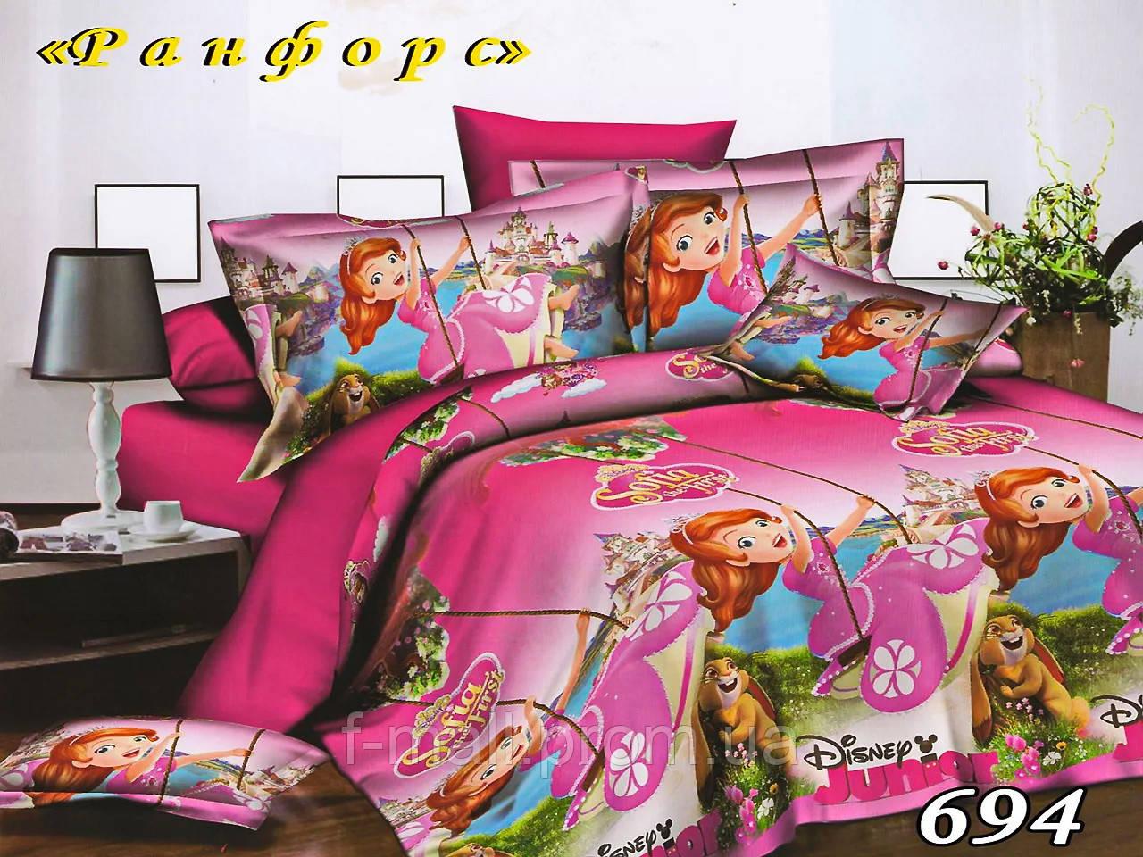 Комплект детского постельного белья Тет-А-Тет (Украина) ранфорс полуторное 1 наволочка (694)