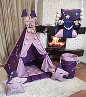 Вигвам Звездная мечта БОН БОН + корзина для игрушек + подвесная качеля Полный комплект !