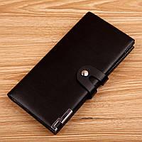 Мужской стильный кожаный клатч кошелек бумажник портмоне визитница, фото 1