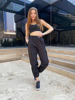 Женские штаны весна-лето. Размеры: 42-44, 46-48. Цвет: чёрный, беж, графит.