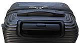 Валіза пластикова на 4х колесах міні   XS темно-сіра | 20х51х35 см | 2.400 кг | 27 л | FLY 91240, фото 6