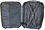 Валіза пластикова на 4х колесах мала S темно-сіра | 23х55х37 см | 3.150 кг | 35 л | FLY 91240, фото 10