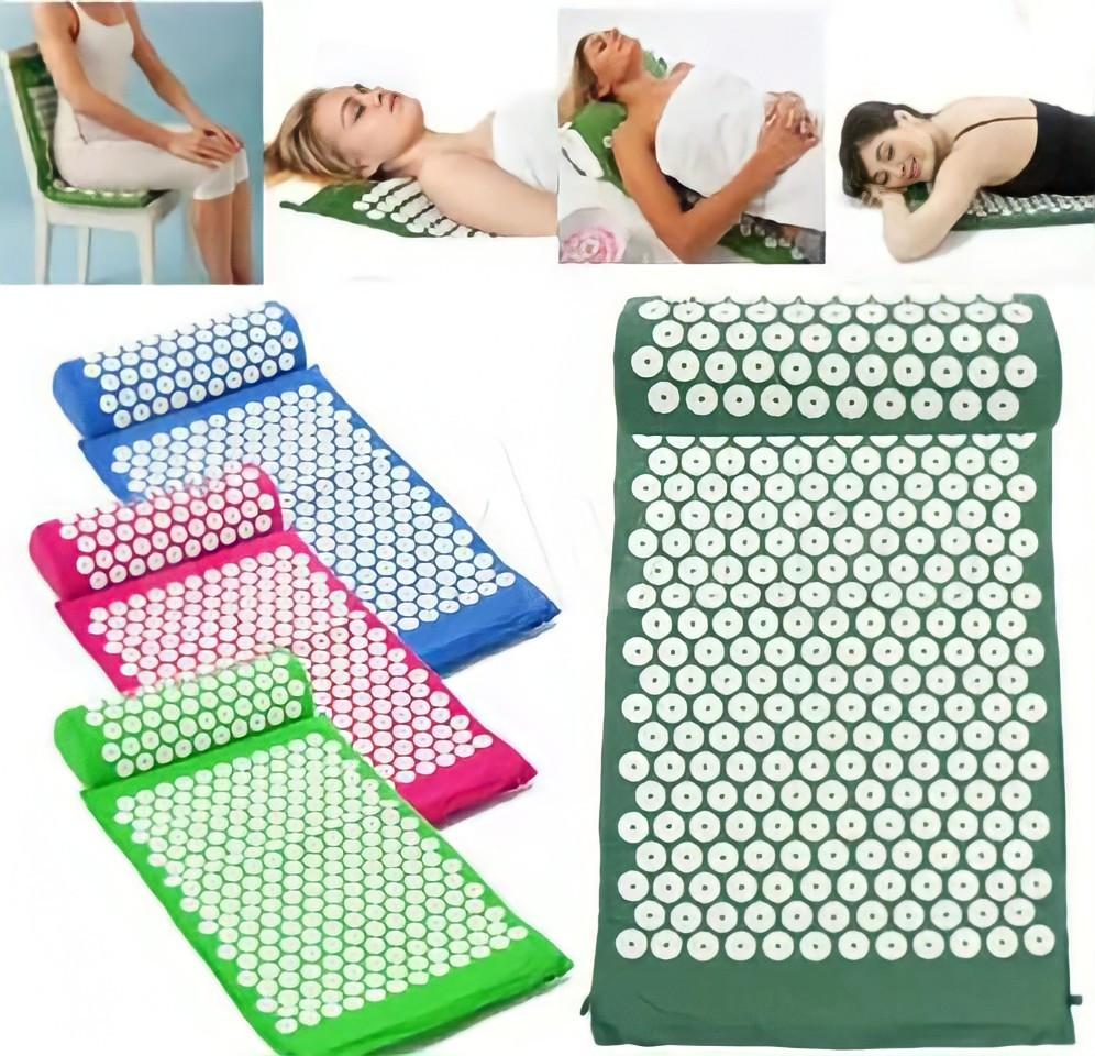 Массажный акупунктурный коврик без подушки| Массажер для всего тела | Аппликатор Кузнецова