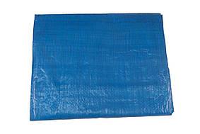 Тент многофункциональный из армированного полипропилена (терпаулинга) Intertool - 3 x 5 м x 65 г/м², синий