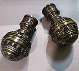 Карниз для штор металевий подвійний 25+19мм АРАБЕСКА Довжина 1.6 м РЕТРО Колір античне золото, фото 2