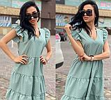 Платье летнее свободного кроя с рюшами в горошек VS1821, фото 3