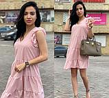 Платье летнее свободного кроя с рюшами в горошек VS1821, фото 2