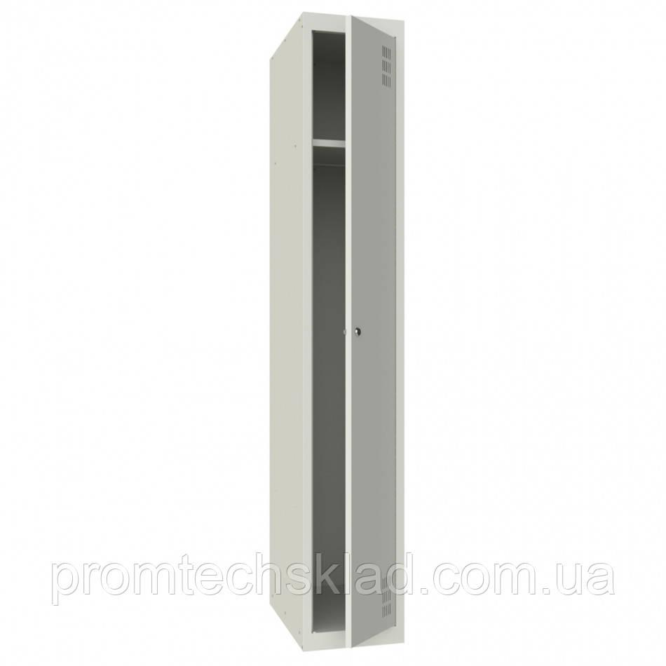 Шкаф для одежды металлический однокамерный, одноуровневый