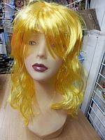Парик карнавальный длинный желтый