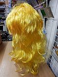 Парик карнавальний довгий жовтий, фото 2