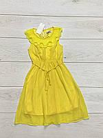 Длинное шифоновое платье для девочек. 4 и 6 лет.