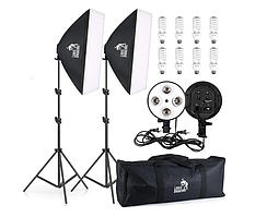 Набір постійного студійного світла з софтбоксами для фото та відеозйомки на 8 ламп Louis Daguerre CA 9069