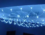 Новогодняя гирлянда сетка 180 LED  1.7 *1.8 м. цвет синий, фото 5