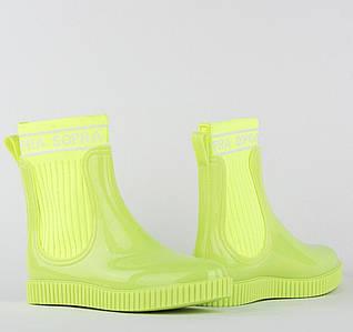 Жіночі гумові силіконові чоботи/Жовті гумові чобітки/короткі гумові чобітки/Жіночі гумові чобітки