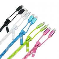 Кабель USB для зарядки і синхронізації 2 in 1 для Iphone 5 micro, змійка, різні кольори, кабель для зарядки, кабель для синхронізації