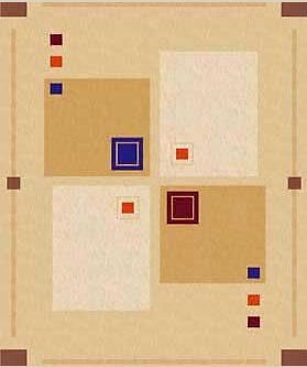Клеёнка столовая Люкс на основе Абстрактные квадраты