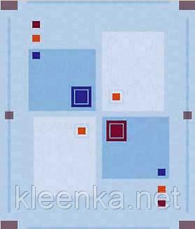 Клеёнка столовая Люкс на основе Абстрактные квадраты , фото 2