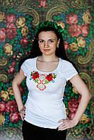 Жіноча вишита футболка. Модель:Мак і робми