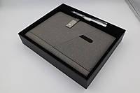 Ежедневник, блокнот, бизнес-ежедневник с флешкой 16 Гб и Powerbank Серый