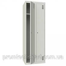 Шкаф для одежды металлический двухкамерный, одноуровневый