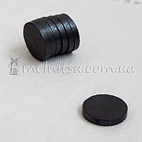 Магнит - заготовка ферритовый, круглый, 18х3 мм