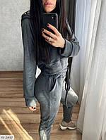 Велюровый спортивный костюм женский красивый укороченная кофта и штаны р-ры 42-48 арт.  077