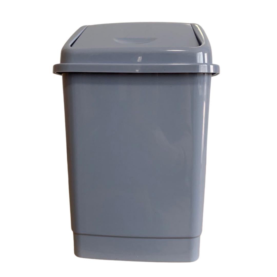 Ведро для мусора с поворотной крышкой BEM 50 литров серый
