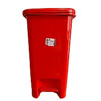Ведро для мусора прямоугольное с педалью 15 литров красный