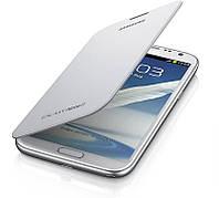 Чехол - флип для Samsung Note 2 Ht-30, белый, искусственная кожа, чехол на мобильный телефон, чехол для