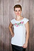 Жіноча вишита футболка. Модель:Польовий букет