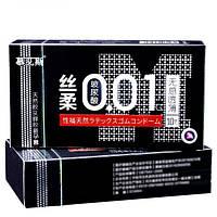 Набор ультратонких презервативов 0,01 мм с дополнительной смазкой, Black 10 шт