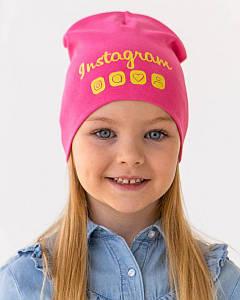 Шапка двошарова для дівчинки на весну-осінь оптом - Артикул IH29