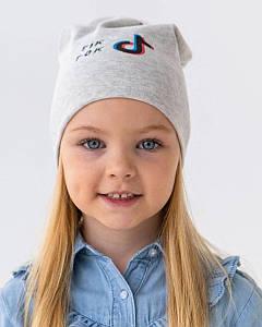 Шапка двошарова для дівчинки на весну-осінь оптом - Артикул KR 405-T