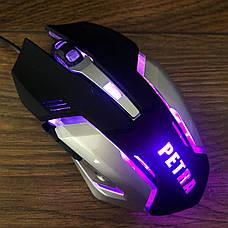 Игровой комплект клавиатура и мышь PETRA MK для ПК компьютера геймерский с RGB подсветкой, фото 3