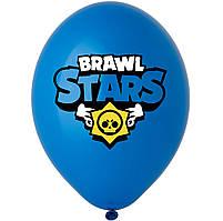 """Латексна кулька 12"""" синя з малюнком """"Brawl Stars""""(3 кольори) (BelBal)"""